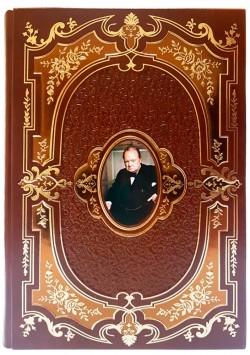 Подарочное издание «Уинстон Черчилль» в кожаном переплете в футляре