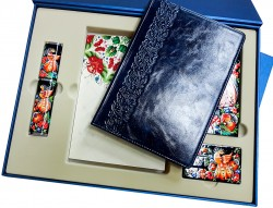 Подарочный набор «Премиум»: ежедневник в кожаном переплете, металлическая ручка в футляре, Xiaomi Power Bank, флеш-карта