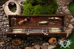Набор шампуров  Рыбалка в кейсе