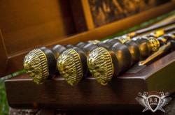 Комплект шампуров ручной работы  Байкер