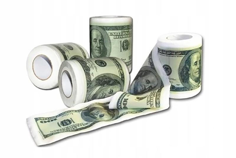 """Туалетная бумага """"100 $"""""""