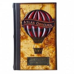 Книга  Самые необыкновенные места планеты. Atlas Obscura  подарочное издание в кожаном переплете