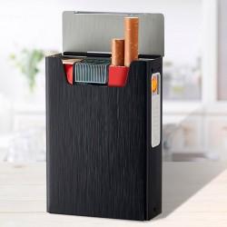 Портсигар с зажигалкой usb на 20 сигарет