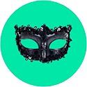 Карнавальные маски кружевные и венецианские