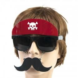 Очки Пират в бандане с усами
