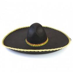 Шляпа Сомбреро Мариачи черная с золотом