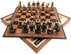 Набор шахматы+нарды+шашки ITALFAMA  Римляне против варваров
