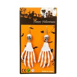 Серьги на Halloween белые