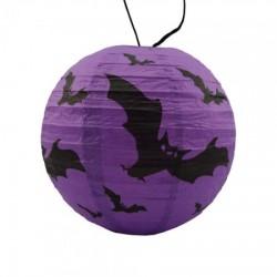 Декор подвесной (20см) фиолетовый с летучей мышью