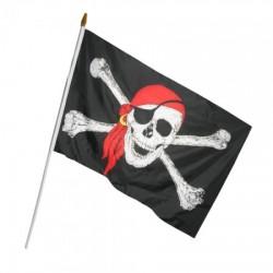 Пиратский Флаг  с пластиковой ручкой