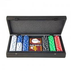 Набор для покера Manopoulos черный 300 фишек