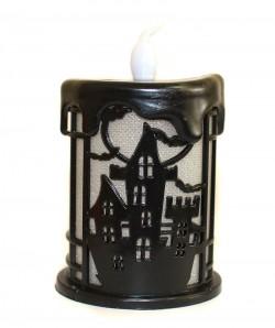 Декоративная свеча на Halloween черная