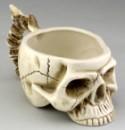 Кружка Череп с костями бежевая