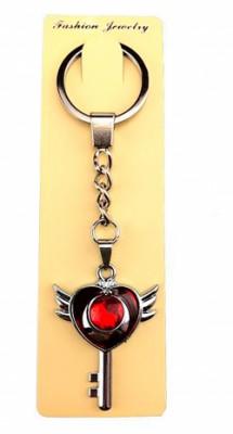 Брелок металлическая ключ к сердцу