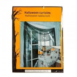 Черная штора декор на Хэллоуин