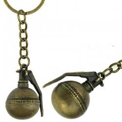 Брелок металлический круглая граната
