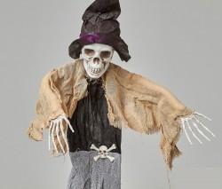 Подвесной декор Скелет в чёрной шляпе