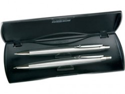 Набор Inoxcrom Zeppelin: ручка шариковая, карандаш в футляре серибристый
