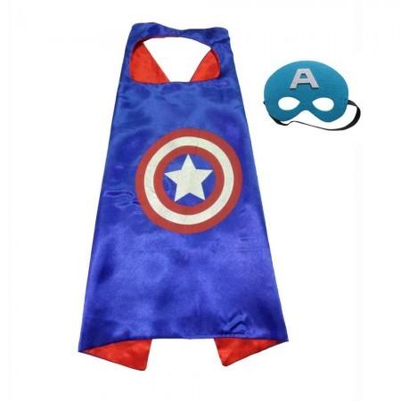 Детский карнавальный костюм с маской Капитан Америка