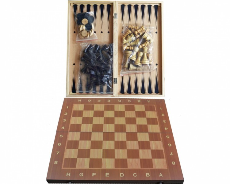 Набор 3в1 Нарды,Шахматы,Шашки (24х24см)