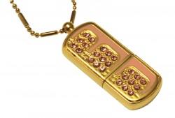 Флешка Glamour Gold