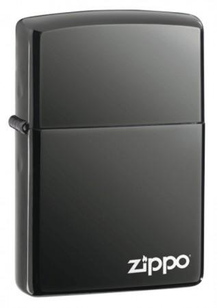 Зажигалка бензиновая ZIPPO BLACK ICE w/ZIPPO LOGO 150ZL