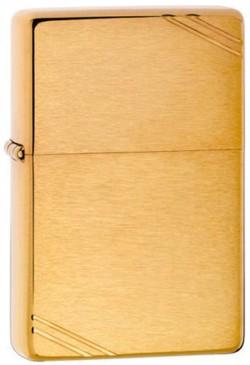 Зажигалка бензиновая Zippo Vintage Brushed Fin Brass 240