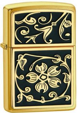 Зажигалка бензиновая GOLD FLORAL FLUSH EMBLEM 20903