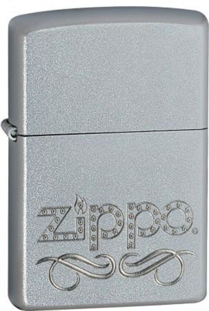 Зажигалка бензиновая Zippo Scroll Satin Chrome 24335