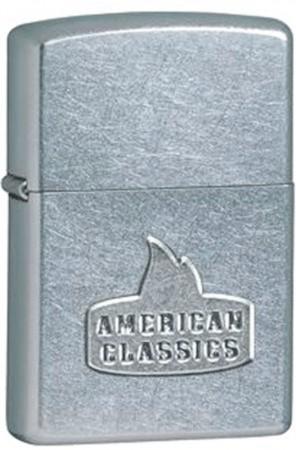 Зажигалка бензиновая Zippo American Classic Street Chrome 24363