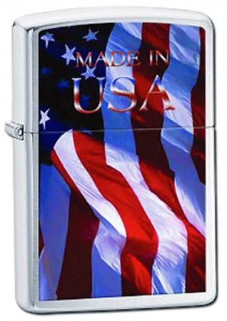 Зажигалка ZIPPO 200 MADE IN USA FLAG 24797