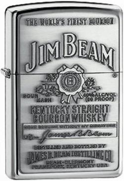 Зажигалка JIM BEAM PEWTER EMBLEM 250 JB 928