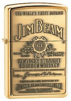 Зажигалка JIM BEAM BRASS EMBLEM 254 BJB 929