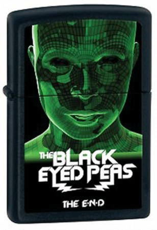 Зажигалка 218 BLACK EYED PEAS зеленая 28026