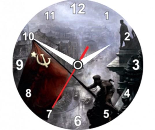 """Часы """" Знамя Победы """""""