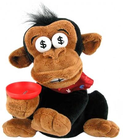 Дай денег - обезьяна хохотун