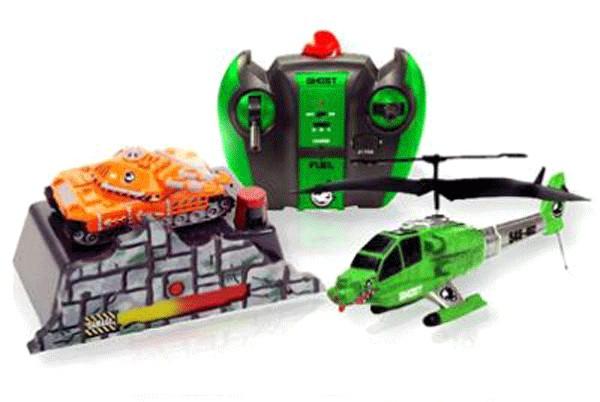Набор Ground Assault вертолет Апачи Комбат стреляющий + наземная цель 6021