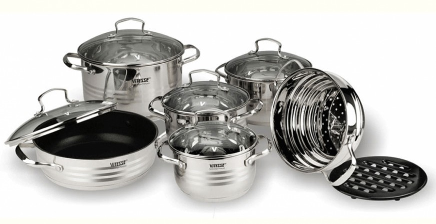 Набор посуды VITESSE Blanch (12 предметов)