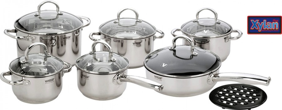 Набор посуды VITESSE Nancy (13 предметов)