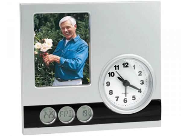 Часы с датой, термометром и рамкой для фотографии