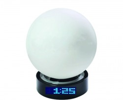 Лампа-глобус настольная с часами