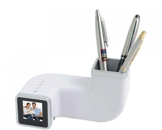 Цифровая фоторамка с часами, будильником и подставкой под ручки
