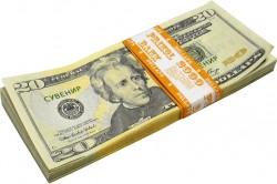 """Пачка денег """"20$"""" (подарочная)"""