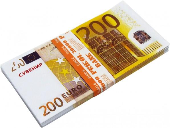 """Пачка денег """"200 Евро"""" (подарочная)"""