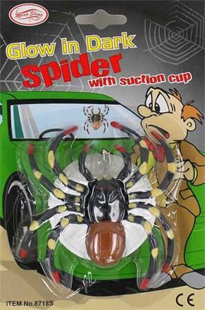 Светящийся паук с присоской