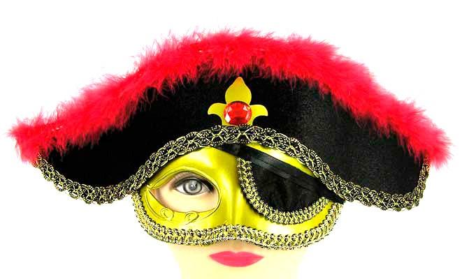 Шляпа - маска пират-маскарад