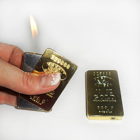 Зажигалка Слиток золота средний