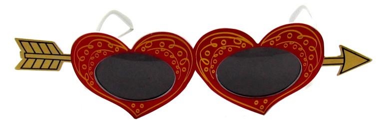 Очки Сердечки на стреле Амура