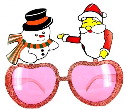 Очки - party Дед Мороз и Снеговик