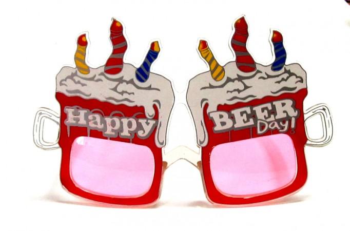 """Очки - party """"Happy BEER"""""""